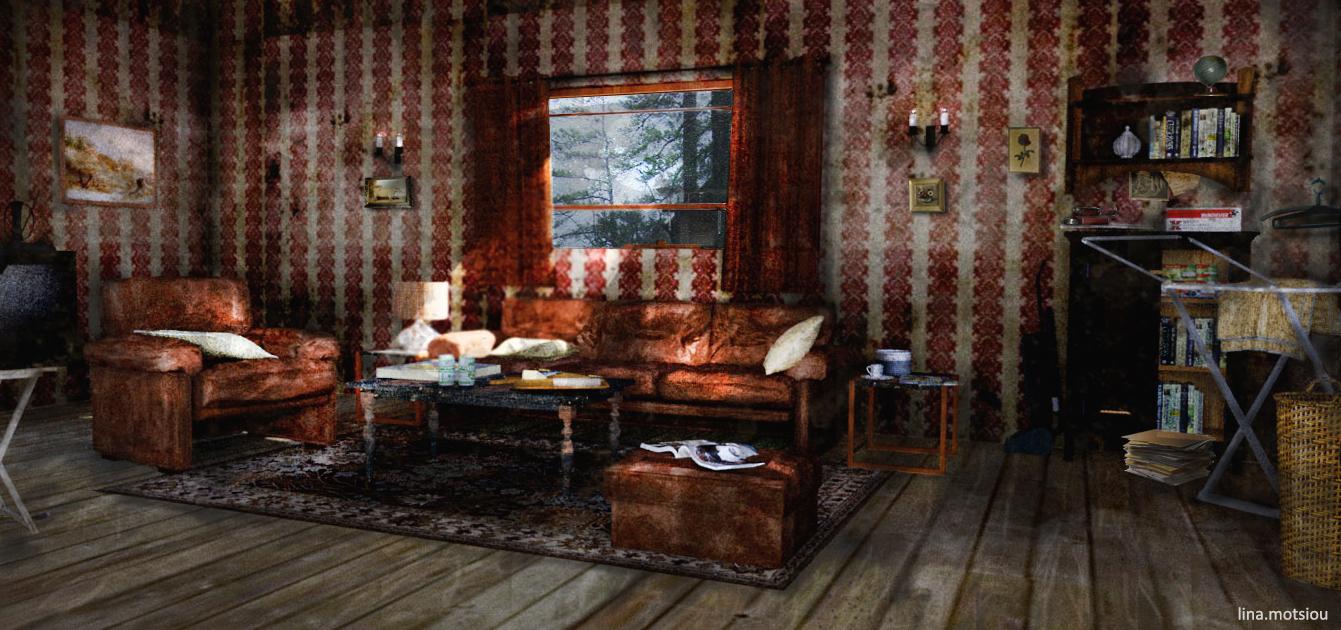 Living room - 3D render